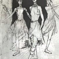 Բալետի երեք պարուհիները | Les trois ballerines | Վիմագրություն | Lithographie | 76x54 cm | 1999