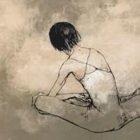 Նստած պարուհին (վարդագույն ֆոնին) | Danseur assis - fond rose | Վիմագրություն | Lithographie | 56×76 cm | 1968