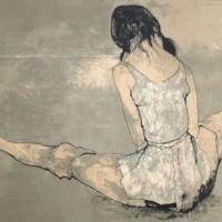 Լարան՝ տունիկայով | Grand écart à la tunique | Վիմագրություն | Lithographie | 56×76 cm | 1971