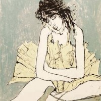Խաչված ձեռքերով պարուհին | Danseuse aux bras croisés | Վիմագրություն | Lithographie | 32×26 cm | 1995