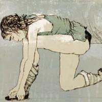 Կանաչ հագուստով բալետի պարուհին | Ballerine à la robe verte | Վիմագրություն | Lithographie | 26×32 cm | 1995