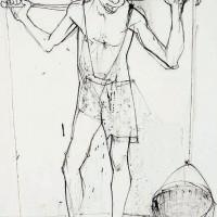 Ջրկիրը | Le porteur d'eau | Թանաք, թուղթ | Encre, papier | 49×31 cm | 1950