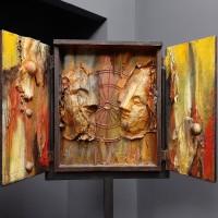 Խորան | Altar | Փայտ, մետաղ  | Wood, metal | 47×170 cm / 18.5×66.9 in | 2008