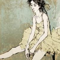 Բալետի պարուհին՝ նստած | Ballerine assise | Վիմագրություն | Lithographie | 32×26 cm | 1995