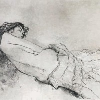 Օլիվիան՝ պառկած | Olivia couchée | Վիմագրություն | Lithographie | 54.5×76 cm | 1979
