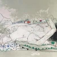 Քնած Կարոլինը | Caroline endormie | Վիմագրություն | Lithographie | 54x76 cm | 1990