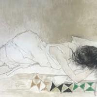 Շեղանկյուններով գորգ | Tapis à losanges | Վիմագրություն | Lithographie | 54x76 cm | 1989