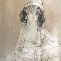 Տոնից հետո | Après la fête | Վիմագրություն | Lithographie | 76×54.5 cm | 1978