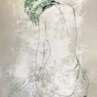 Կանաչ գլխաշորը | Le foulard vert | Վիմագրություն | Lithographie | 76x56 cm | 1993
