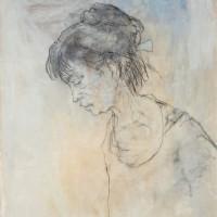 Ադելիտան կիսադեմովs | Adelita au profil | Ջրաներկ, գրաֆիտ եւ պաստել | Aquarelle, graphite et pastel | 65×50 cm | 2004
