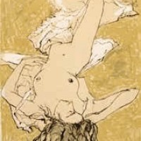 Մերկ բնորդուհին՝ քնած | Nu endormi | Վիմագրություն | Lithographie 32x26 cm | 1995