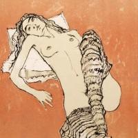 Մերկ բնորդուհին՝ գուլպաներով | Nu aux jambières | Վիմագրություն | Lithographie | 32x26 cm | 1995