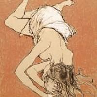 Մերկ բնորդուհին՝ ներքնազգեստով Nu au jupon | Վիմագրություն | Lithographie 32x26 cm | 1995