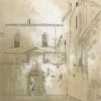 Օրվիետո. Հոգևորականի տունը | Orvieto - le presbytère | Վիմագրություն | Lithographie | 76x54.5 cm | 1977