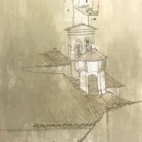 Օրվիետո. Զանգակատունը | Orvieto - le clocher | Վիմագրություն | Lithographie | 76x54.5 cm | 1977