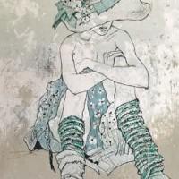 Կապույտ ժապավենով գլխարկ | Chapeau au ruban bleu | Վիմագրություն | Lithographie | 76×54.5 cm | 1999
