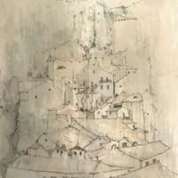 Ուրբինո | Urbino | Վիմագրություն | Lithographie | 76x54.5 cm | 1977