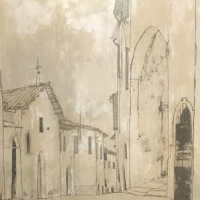 Սպելլո. Մուտք | Spello - l'entrée | Վիմագրություն | Lithographie | 76x54.5 cm | 1977