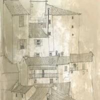 Ուրբինոյի տանիքները I | Toits d'Urbino I | Վիմագրություն | Lithographie | 76x54.5 cm | 197