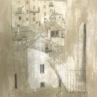 Ուրբինոյի տանիքները II | Toits d'Urbino II | Վիմագրություն | Lithographie | 76x54.5 cm | 1977