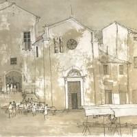 Օրվիետո. Շուկա | Orvieto - le marché | Վիմագրություն | Lithographie | 76x54.5 cm | 1977
