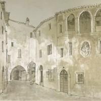 Սպելլո. Փողոց | Spello - la rue | Վիմագրություն | Lithographie | 76x54.5 cm | 1977