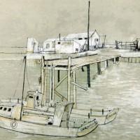 Նավակներ | Les bateaux | Վիմագրություն | Lithographie | 54x76 cm | 1985