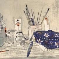 Կապույտ ապուրաման | La soupière bleue | Վիմագրություն | Lithographie | 54x76 cm | 1990