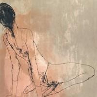 Ծնկած պարուհին (վարդագույնի վրա) | Danceuse a' genoux- rose | Վիմագրություն | Lithographie | 75x57 cm | 1971