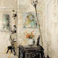 Սնդուկ և լապտեր | Le coffre et la lanterne | Վիմագրություն | Lithographie | 76x54 cm | 1986