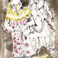 Թռչուն - ծաղրածուն | Le clown oiseau | Վիմագրություն | Lithographie | 27x20 cm | 1981