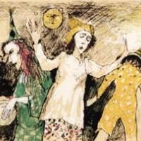 Դափերով տրիո | Trio au tambourin | Վիմագրություն | Lithographie | 26×31.5 cm | 1995
