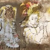 Խենթ երաժիշտները | Les fous musiciens | Վիմագրություն | Lithographie | 27×33 cm | 1981