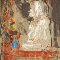 Մերկ բնորդուհու ճեպանկարը ծաղկեփնջով | Petit nu au bouquet | Վիմագրություն | Lithographie | 40x33 cm