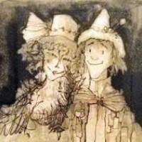 Դիմակահանդես ծաղկազարդ գլխարկներով | Mascarade au chapeau fleuri | Վիմագրություն | Lithographie | 34.5x41 cm | 1978