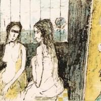 Դեղին կտավով արվեստանոցը | Atelier à la toile jaune | Վիմագրություն | Lithographie | 26×36.5 cm | 1995