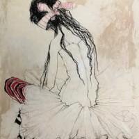 Թիկունքով նստած պարուհին՝ հանգստանալիս Danseuse de dos au repos | Վիմագրություն | Lithographie | 75.5×54 cm | 1991
