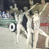 Արենայում | Dans l'arène | Վիմագրություն | Lithographie | 50x65 cm | 1971