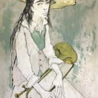 Շեփոր | Le clairon | Վիմագրություն | Lithographie 76x56 cm | 1993