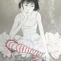 Կարմիր գուլպաներով Սոֆին | Sophie aux bas rouges | Վիմագրություն | Lithographie | 76×56 cm | 1993