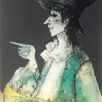 Շեփորը | Le trompette | Վիմագրություն | Lithographie | 110.5x72 cm | 1981