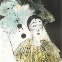 Պիեռոն՝ դեղին օձիքով | Pierrot à la collerette jaune | Վիմագրություն | Lithographie | 110x72 cm | 1981