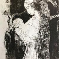 Մայրը՝ շալն ուսերին | Maternité au châle | Վիմագրություն | Lithographie | 75.5x54 cm | 1977