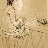 Իշոտնուկ | Le Tréteau | Փորագրանկար | Gravure | 40.5×30 cm | 1977