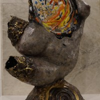 Կարմիր լույսերով փողոցի աղջիկը, Ամստերդամ | The Red Light street Girl, Amsterdam | Կերամիկա, բրոնզ| Ceramics, bronze | 48x32x21 cm | 2019