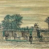 Փարիզ, Կոնկորդի հրապարակը | Paris, Place de la Concorde | Վիմագրություն | Lithographie | 32x40.5 cm