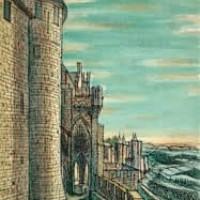 Կարկասոն | Carcassonne | Վիմագրություն | Lithographie | 40.5x32 cm