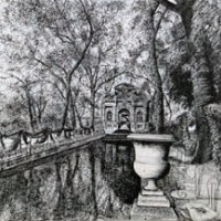 Մեդիչի շատրվանը | La fontaine Médicis | Վիմագրություն | Lithographie | 41x56 cm | 1986