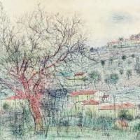 Պրովանսյան բնանկար | Paysage de Provence | Փորագրանկար | Gravure | 57x76 cm | 1973