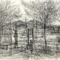Նավամատույց | Le débarcadère | Փորագրանկար | Gravure | 51x65.5 cm | 1962